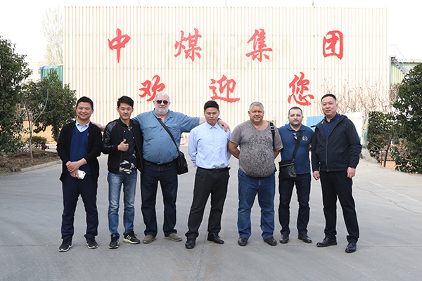 Warmly Welcome Russian Businessmen to Visit the Group to Purchase Mining Equipment